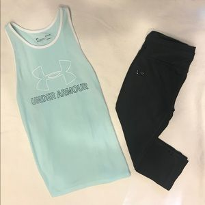 UNDER ARMOUR SIZE MEDIUM 2-PC ATHLETIC OUTFIT